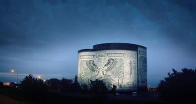 здание в виде банкноты