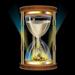 часы песочные и деньги