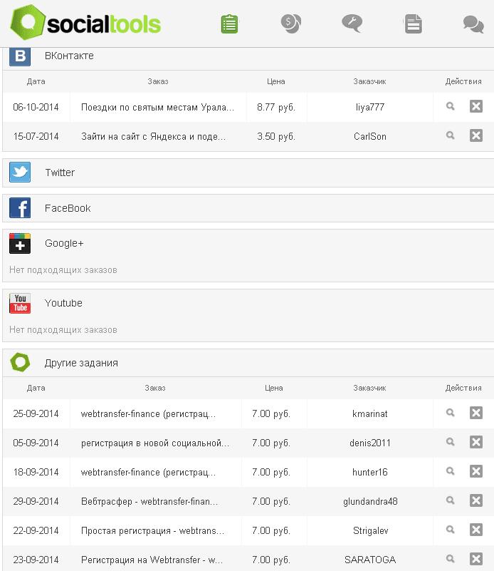 SocialTools zadania