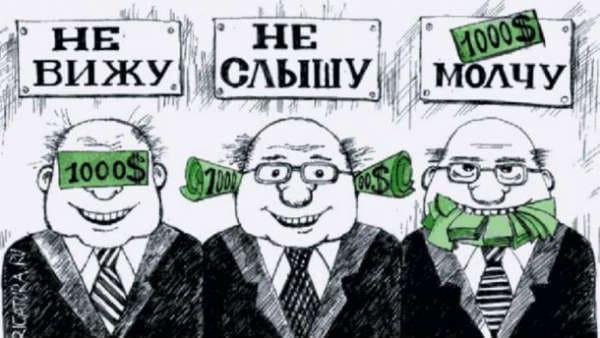 мировая коррупция, взятки в россии