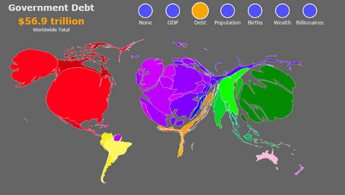 долги стран