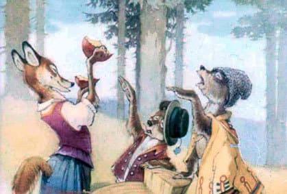 сыр лиса и 2 медвежонка