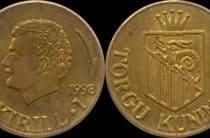 Эстонские пол-литра. Монета = бутылка водки.