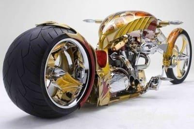 золотой чопер мотоцикл