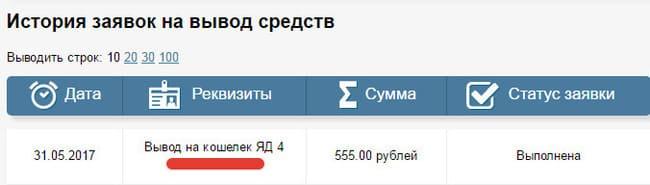 Вывод денег с izly.ru