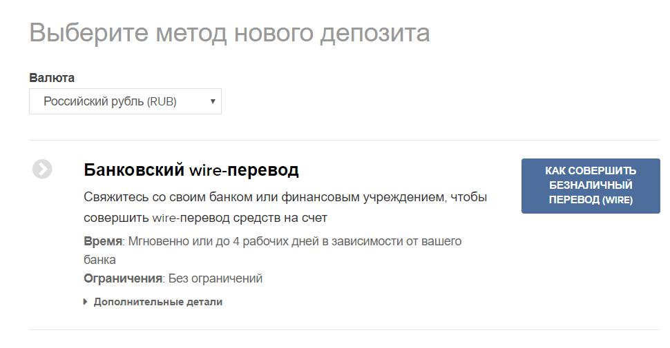 Банковский wire-перевод