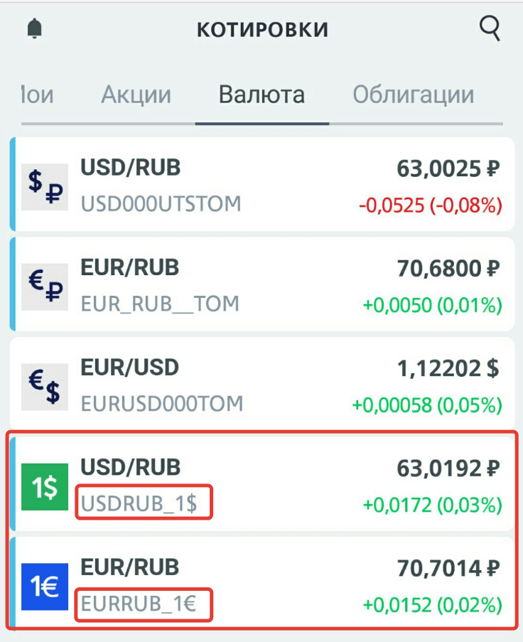 Продажа валюты от 1 доллара через ВТб брокер