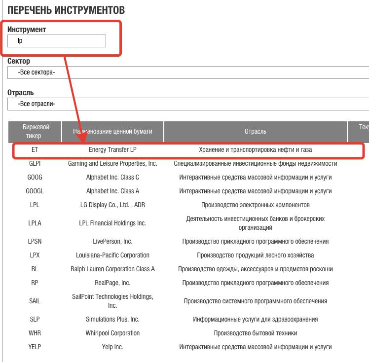 MLP-акции на СПБ