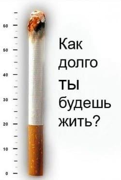 Сокращение жизни от сигарет